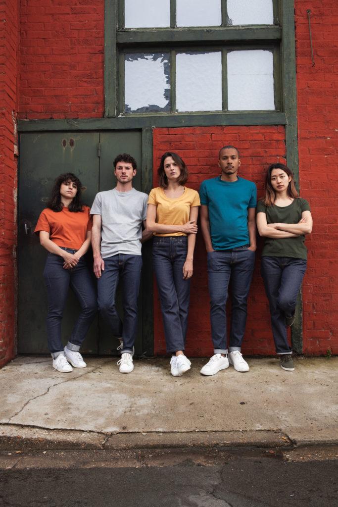 fibre recyclée groupe T-shirts Ecclo